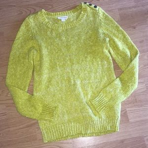 Super cozy Lemon Lime St. John's Bay Sweater